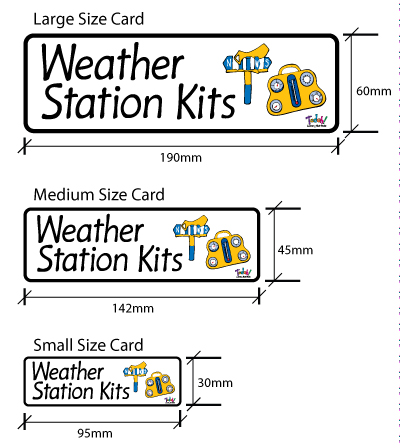 New Classroom Cards three different sizes.