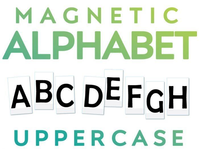 Magnetic Uppercase Alphabet Letters