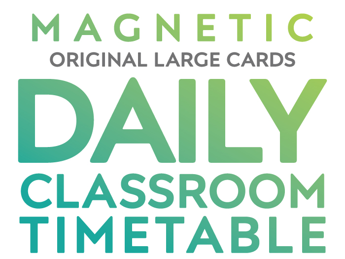 Magnetic Daily Classroom Timetable Original Large Cards