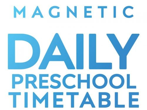 Daily Preschool Timetable