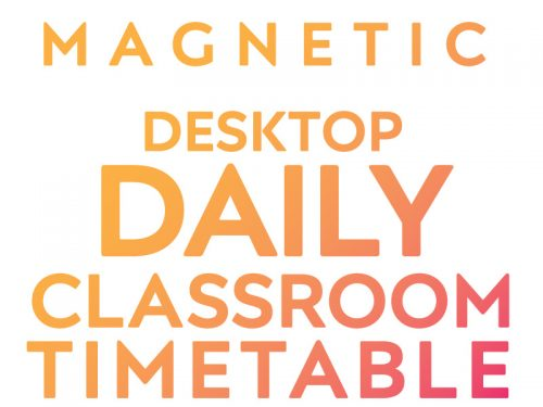 Desktop Daily Classroom Timetable