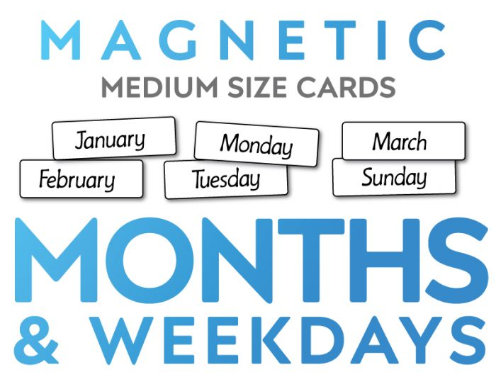 Magnetic Months and Weekdays Medium Sized Cards
