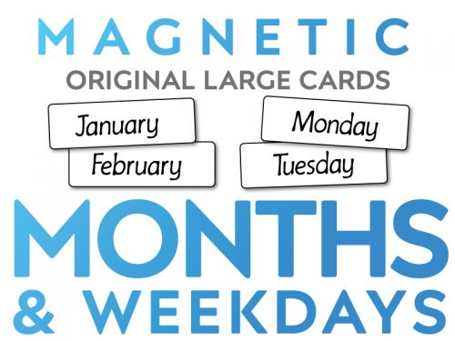 Magnetic Months and Weekdays Original Large Cards